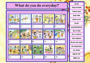 English Worksheets: Daily Activities - What do you do everyday?