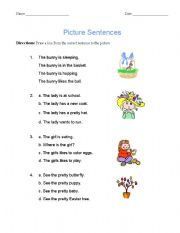 English Worksheets: Picture Sentences