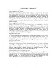 English Worksheets: Economic impact of landfill