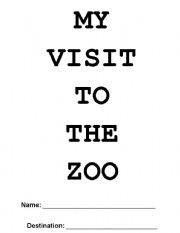 English Worksheets: My Visit To The Zoo