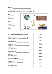 English Worksheets: Easy Words *Fully editable