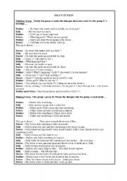 English Worksheet: Drama Activity - Dubbing and Miming