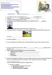 English Worksheets: Wordsworth�s Daffodils