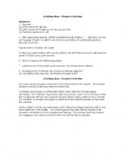 English Worksheets: A Solitary Blue