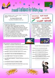 English Worksheet: PRESENT CONTINUOUS FOR FUTURE PLANS