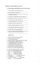 English Worksheets: some questions at 8. grade