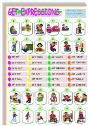 English Worksheets: GET EXPRESSIONS