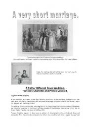 English Worksheet: a very short marriage