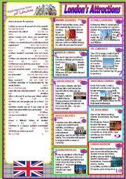 English Worksheet: London´s attractions