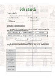 English Worksheet: Job search