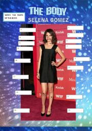 English Worksheets: THE BODY PARTS - Selena Gomez