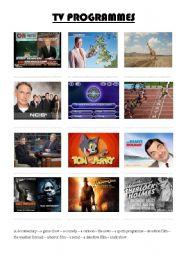 English Worksheets: TV programmes