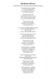 English Worksheets: Celine Dion Lyrics