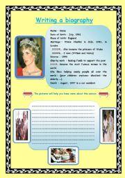 English teaching worksheets biographies english worksheets writing a biography pronofoot35fo Choice Image