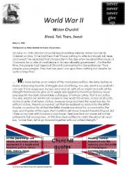 English Worksheets: World War 2 - Wiston Churchill