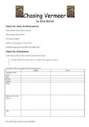 English Worksheets: Chasing Vermeer Study Sheets