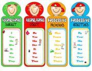 English Worksheets: PRONOUNS-bookmarks 2