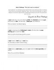 English Worksheets: Brain Challenge