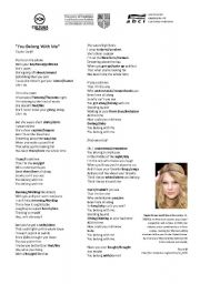 English Worksheets: You Belong With Me - Taylor Swift