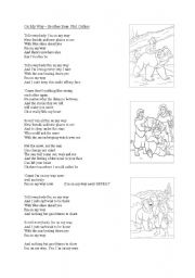English Worksheet: Song - On my way, Phil Collins
