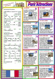 English Worksheets: Paris� Attractions