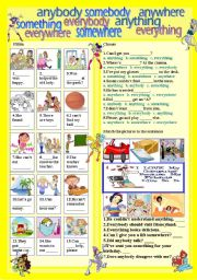 English Worksheet: some-any-every