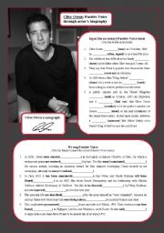English Worksheets: Clive Owen: Passive Voice through actor�s biography