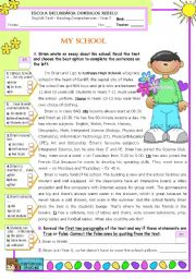 English Worksheets: Brian�s school  -  Reading Test