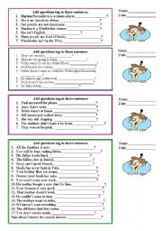 English Worksheets: Tag questions