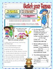 English Worksheets: Don�t Mix Your Tenses