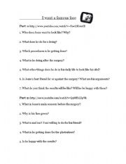 English Worksheets: I want a famous face - Elvis Priesley