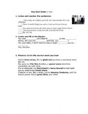 English Worksheet: Song: Soul Sister