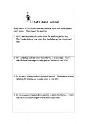 English Worksheets: Interesting worksheet for the book �Flat Stanley�!