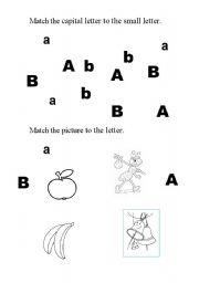 English Worksheets: A B