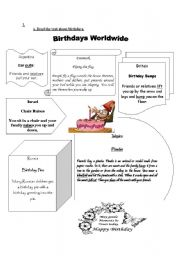 English Worksheet: Birthday celebrations around the world