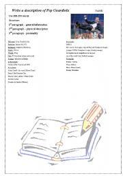 English Worksheets: description of Guardiola