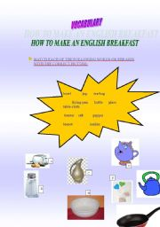English Worksheet: HOW TO MAKE AN ENGLISH BREAKFAST