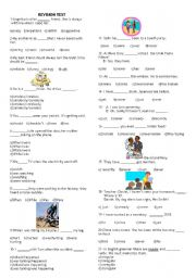 English Worksheet: sbs 8. s�n�flar i�in deneme