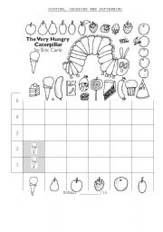 English Worksheet: A Very Hungry Caterpillar Graph