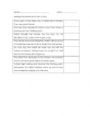 English Worksheets: the rabbit and the tortoise