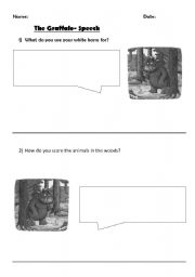 English Worksheets: Speech bubble