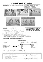 English Worksheet: A simple guide to cricket