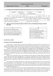 English Worksheets: test about the world of work