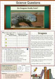 English Worksheets: Do Dragons Really Exist?      15