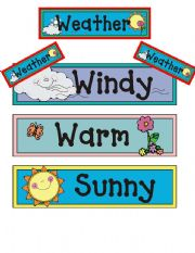 WEATHER CONDITIONS FLASHCARDS