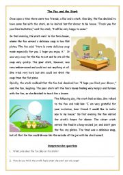 Fables worksheets