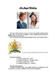 English Worksheet: The Royal Wedding