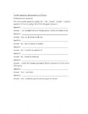 English Worksheets: Questioning :  5W and 1H