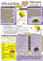 English Worksheet: Phrasal verbs FOOD and DRINK