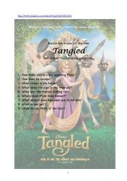 English Worksheet: Tangled Trailer